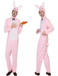 Udklædning lyserød kanin voksen