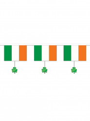 Guirlande med irsk flag og firkløvere