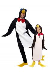 Par kostume pingviner far og barn