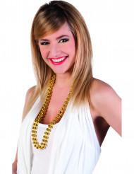 2 Perlehalskæder i guldfarve til voksne