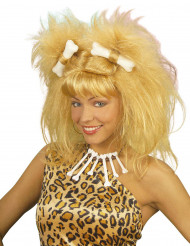 Blond huleboerkvinde-paryk