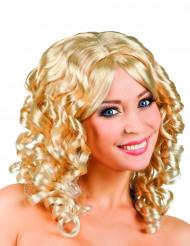 Blond paryk med krøller til kvinder
