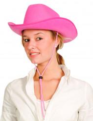 Lyserød cowboyhat voksne
