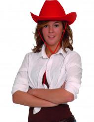 Rød cowboyhat voksne