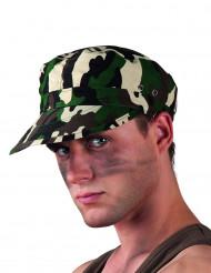 Camouflagefarvet militærhat voksne