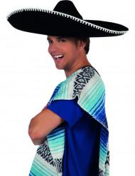 Stor sort sombrero til voksne