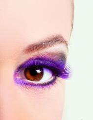 Korte lilla kunstige øjenvipper voksne