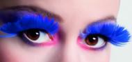 Mørkeblå kunstige øjenvipper af fjer voksne