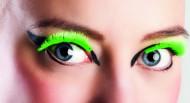 Korte neongule kunstige øjenvipper voksne
