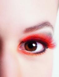 Korte røde kunstige øjenvipper voksne