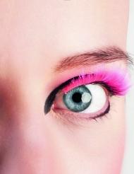 Korte lyserøde kunstige øjenvipper voksne