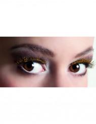 Korte sorte kunstige øjenvipper med pailletter voksne