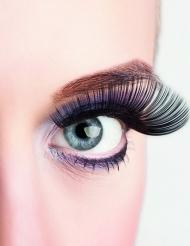 Lange sorte kunstige øjenvipper