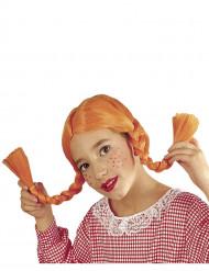 Paryk med orange fletninger piger