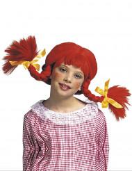 Paryk med røde fletninger piger