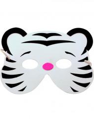 Hvid tigermaske til børn