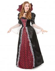 Halloween dronninge-vampyrkjole til kvinder