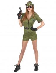 Militærdragt med shorts til kvinder