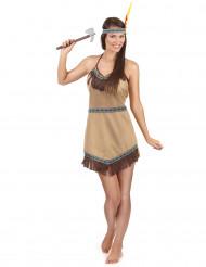 Indianerkvinde Kostume