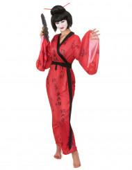 Den røde geisha - geisha kostume til kvinder
