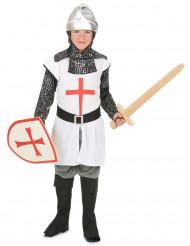 Hvidt ridderkostume til drenge