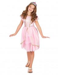 Lyserød og guld prinsessekjole til piger