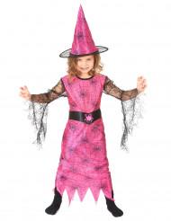 Kostume heks edderkop pink til piger