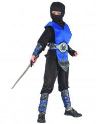 Kostume ninja blå til drenge