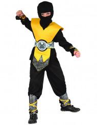 Fremtidens ninja - Gult ninjaudklædningskostume til drenge