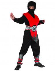 Fremtidens ninja - Rødt ninjaudklædningskostume til drenge