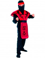 Kostume ninja drage rød til drenge