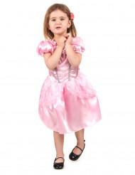 Kort lyserød prinsessekjole til piger