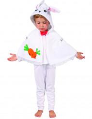 Hvid kaninkappe til børn