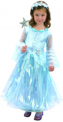 Kostume blå prinsessekjole luksus til piger
