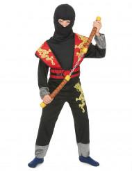 Kostume ninja gul og rød til drenge
