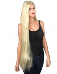 Lang blond paryk