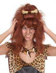 Brun hulekvindeparyk kvinde