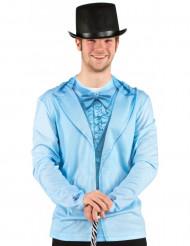 Blå jakkesæt-t-shirt voksen