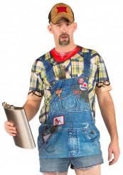 T-shirt overalls redneck til voksne