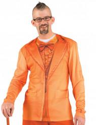 Orange jakkesæt-t-shirt voksen