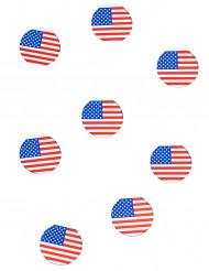 150 stk konfetti med USAs flag