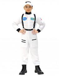 Hvid og sort astronautdragt til børn