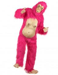 Lyserød gorilladragt voksen