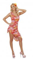 Kostume hawaiiansk med palmer til kvinder