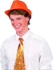 Orange borsalinohat voksen