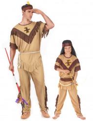 Parkostume far og søn indianer