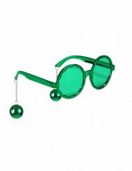 Grønne hippiebriller til voksne