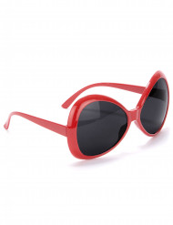 Rødedisco briller voksen