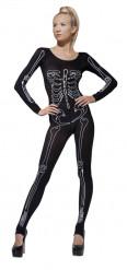 Skeletprint-kostume voksen Halloween