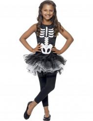 Skeletdragt Halloween med sort tylnederdel